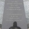 Černobyl', la centrale: lapide sul monumento alle maestranze
