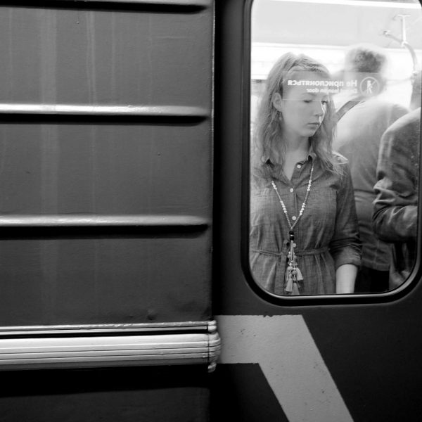 Mosca, donna in metropolitana | © Camila Fernandez