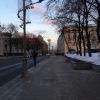 Una torre del Cremlino sullo sfondo della Vozdviženka