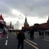 Mosca, pennacchio di vapore dietro la Cattedrale di San Basilio