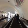 Discesa alla metropolitana di Kiev, stazione Majdan Nezaležnosti
